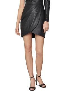 BCBG Max Azria Bcbgmaxazria Faux-Leather Tulip Mini Skirt