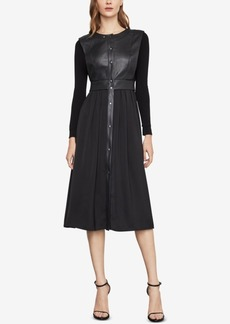 BCBG Max Azria Bcbgmaxazria Faux-Leather Vest Dress
