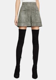 BCBG Max Azria Bcbgmaxazria Faux-Suede Mini Skirt