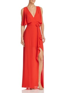BCBG Max Azria BCBGMAXAZRIA Faux Wrap Gown - 100% Exclusive
