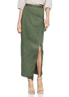 BCBG Max Azria BCBGMAXAZRIA Faux-Wrap Maxi Skirt