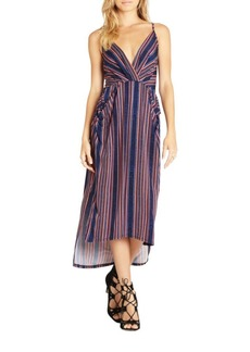 BCBG Max Azria BCBGMAXAZRIA Faux-Wrap Midi Dress