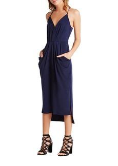 BCBG Max Azria BCBGMAXAZRIA Faux-Wrap Midi Dress
