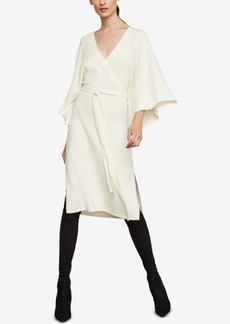 BCBG Max Azria Bcbgmaxazria Faux-Wrap Robe Dress