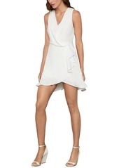 BCBG Max Azria Bcbgmaxazria Faux-Wrap Ruffled Dress
