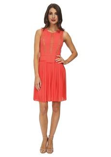 BCBGMAXAZRIA Faythe Halter Dress with Pleated Skirt
