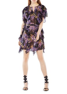 BCBGMAXAZRIA Filippa Floral Kaftan Dress