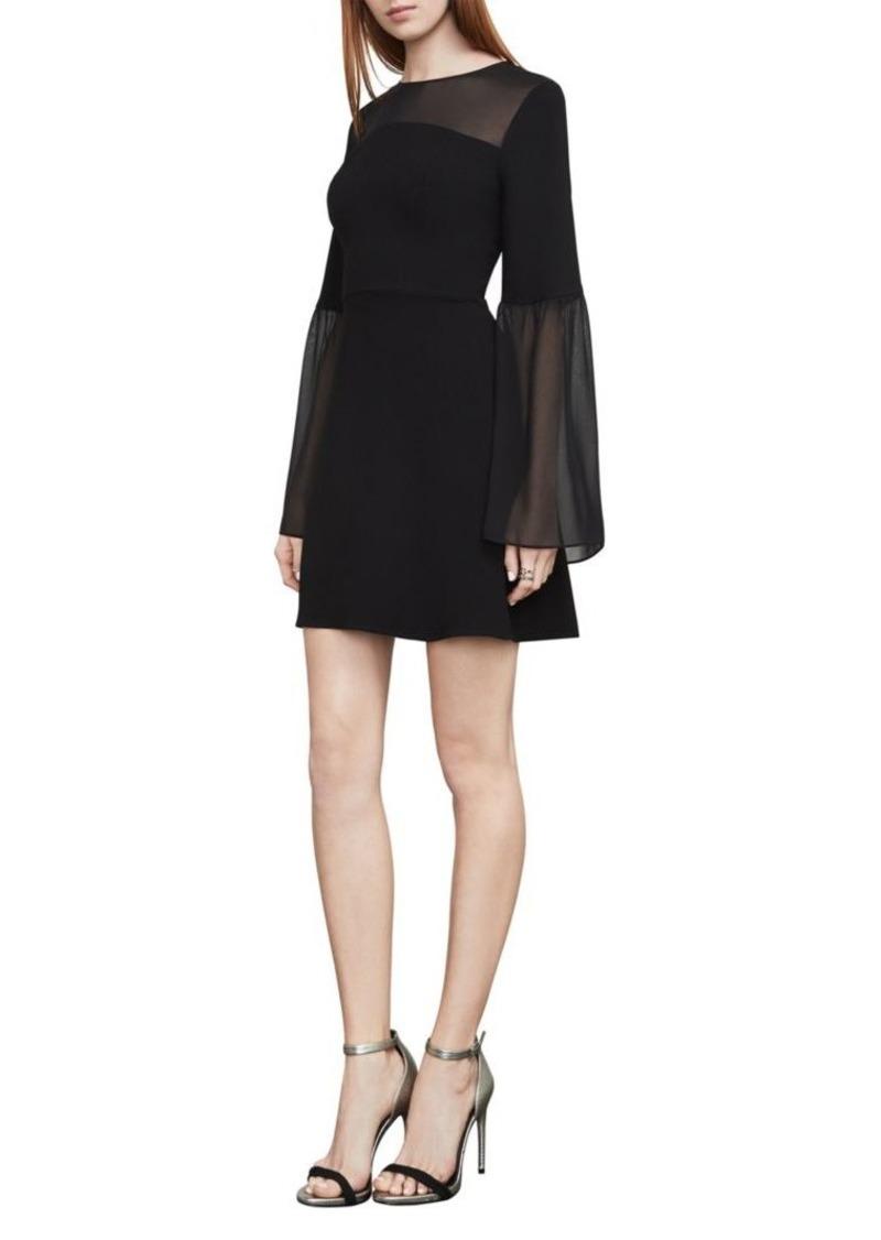 BCBG Max Azria Finley Bell-Sleeve A-Line Dress