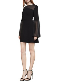 BCBGMAXAZRIA Finley Bell-Sleeve A-Line Dress