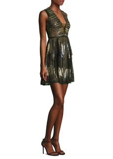 BCBG Max Azria Fit-&-Flare Mini Dress