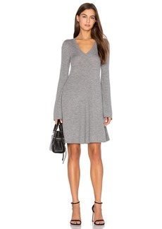 BCBGMAXAZRIA Flare Sleeve Sweater Dress