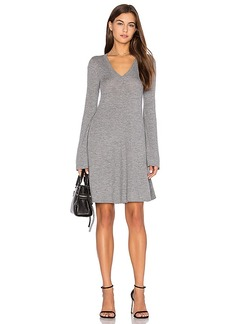 BCBGMAXAZRIA Flare Sleeve Sweater Dress in Grey. - size M (also in S,XS)