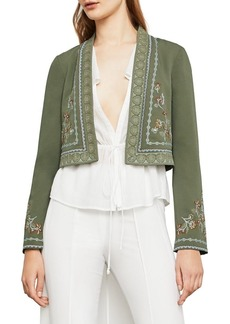 BCBG Max Azria BCBGMAXAZRIA Floral Embroidered Cropped Jacket