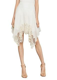 BCBG Max Azria BCBGMAXAZRIA Floral Embroidered Handkerchief Skirt