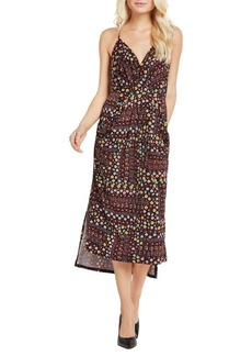BCBGeneration Floral Garden Faux-Wrap Midi Dress