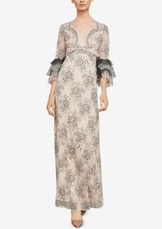 BCBG Max Azria Bcbgmaxazria Floral Lace Maxi Dress