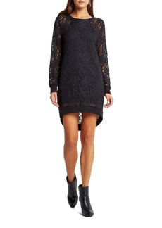 BCBGMAXAZRIA Floral Lace Overlay Dress