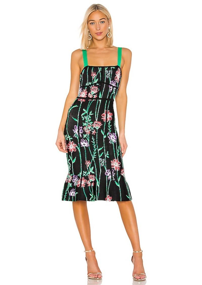 BCBG Max Azria BCBGMAXAZRIA Floral Midi Dress