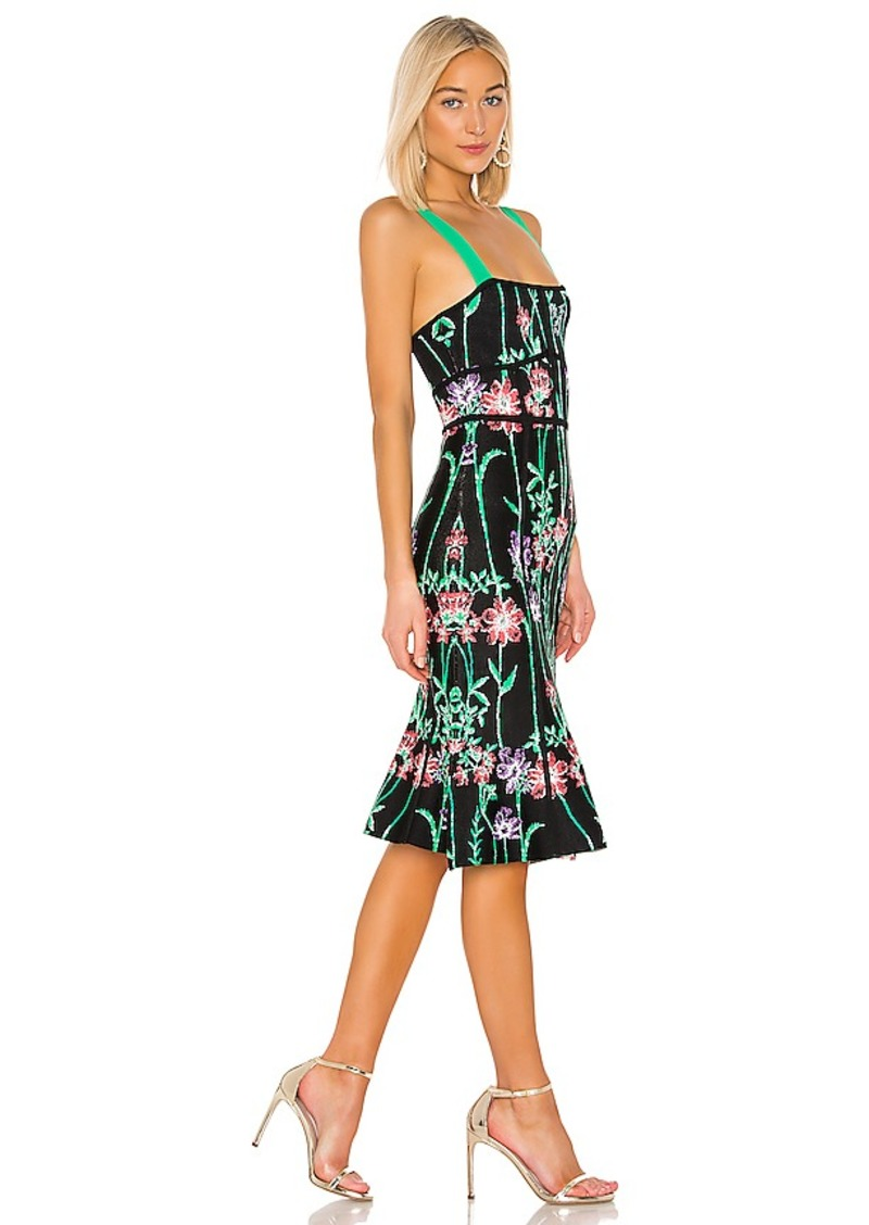 BCBGMAXAZRIA Womens Mini Floral Striped Sundress