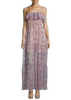 BCBGeneration Floral-Print Off-the-Shoulder Dress