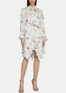 382b0405ce BCBG Max Azria Bcbgmaxazria Floral-Print Tie-Neck Shift Dress