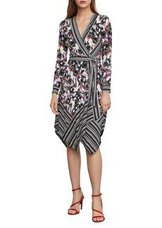 BCBG Max Azria BCBGMAXAZRIA Floral Printed Wrap Dress