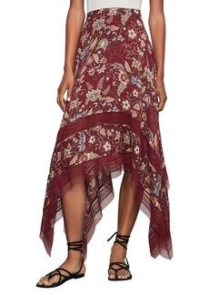 BCBG Max Azria BCBGMAXAZRIA Floral Toile Handkerchief Skirt