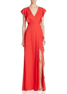 Bcbgmaxazria Flutter Sleeve Gown - 100% Exclusive