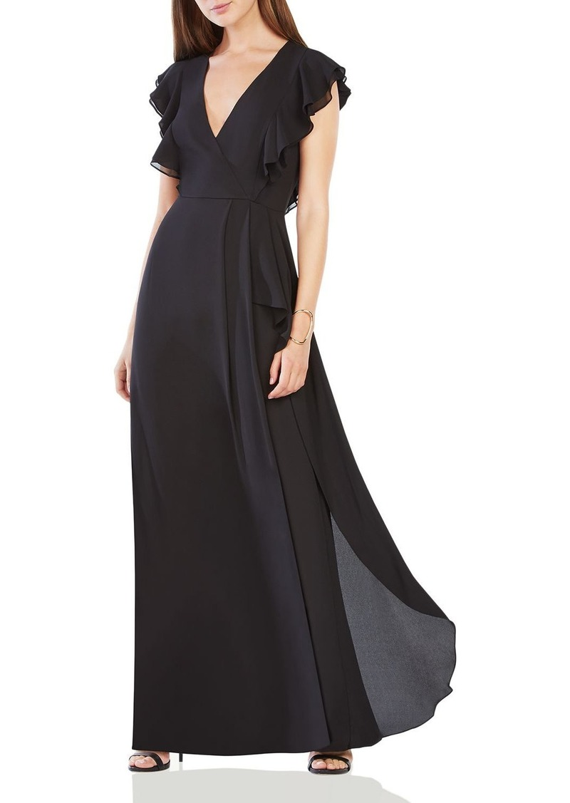 On Sale today! BCBG Max Azria BCBGMAXAZRIA Flutter Sleeve Gown