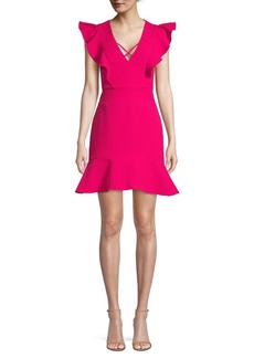 BCBG Max Azria BCBGMAXAZRIA Flutter-Sleeve Mini Dress