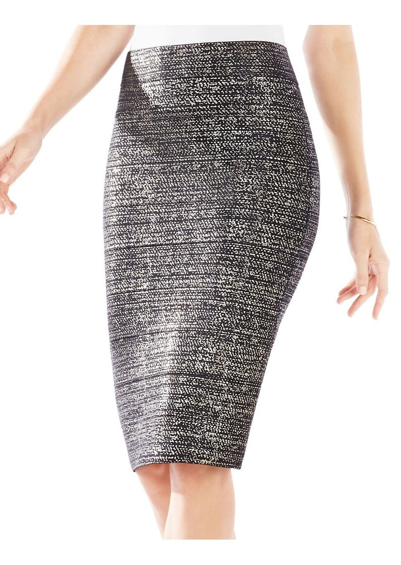 BCBG Max Azria BCBGMAXAZRIA Foild Print Power Skirt