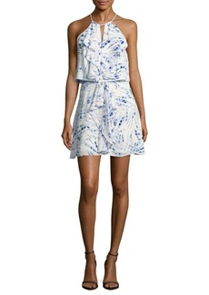 BCBGMAXAZRIA Foliage-Print Popover Dress