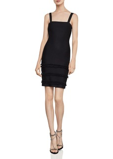 BCBG Max Azria BCBGMAXAZRIA Fringe-Trim Body-Con Dress