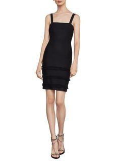 BCBG Max Azria BCBGMAXAZRIA Fringe-Trimmed Sheath Dress