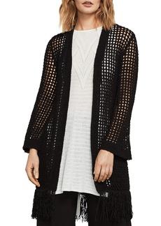BCBG Max Azria BCBGMAXAZRIA Fringed Open-Knit Cardigan