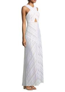 Genelle Lace Halter Gown