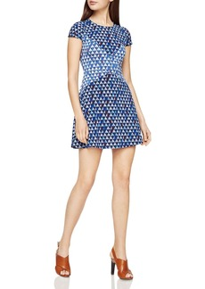 BCBGMAXAZRIA Geo Print Mini Dress