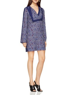 BCBGMAXAZRIA Geo Print Shift Dress