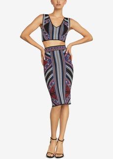 BCBG Max Azria Bcbgmaxazria Geometric Jacquard Pencil Skirt