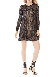 BCBGMAXAZRIA Geometric Lace Dress
