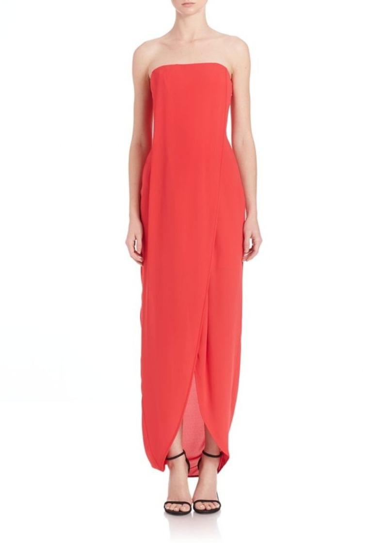 BCBG Max Azria BCBGMAXAZRIA Georgette Draped Front Gown Now $89.40