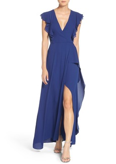BCBGMAXAZRIA Georgette Fit & Flare Gown