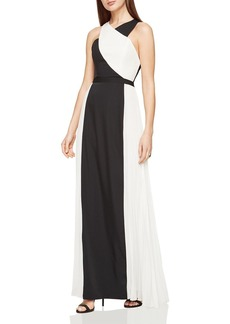 BCBGMAXAZRIA Georgia Color-Block Gown