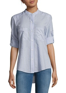 BCBG Max Azria BCBGMAXAZRIA Gibson Striped Long-Sleeve Shirt
