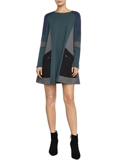 BCBGMAXAZRIA Gigi Colorblock A-Line Dress