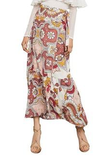 BCBG Max Azria BCBGMAXAZRIA Grand Paisley Maxi Wrap Skirt
