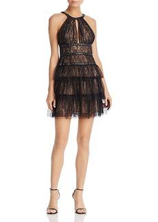 Bcbgmaxazria Grommet-Detail Lace Dress