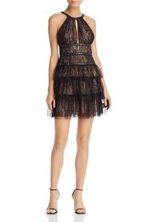 BCBG Max Azria BCBGMAXAZRIA Grommet-Detail Lace Dress