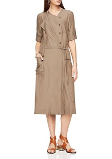 BCBGMAXAZRIA Halena Twill Midi Dress