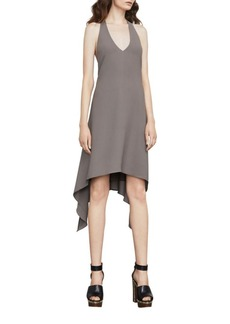 BCBGMAXAZRIA Halterneck Hi-Lo Dress